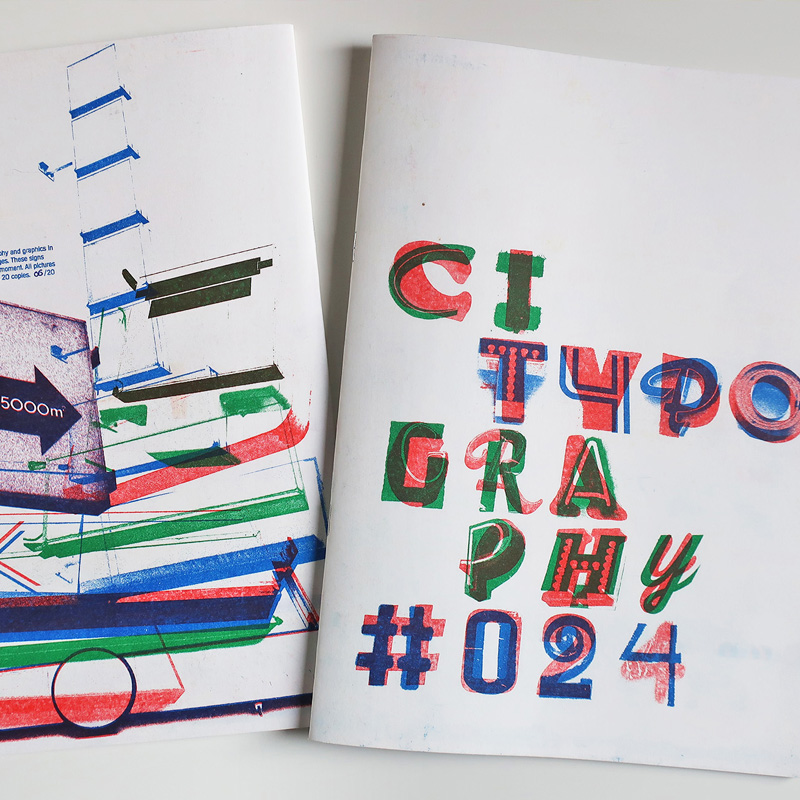 Citypography  Risograph book