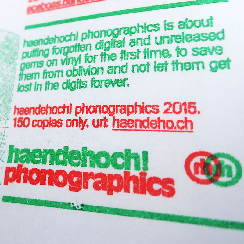 About Haendehoch! Phonographics